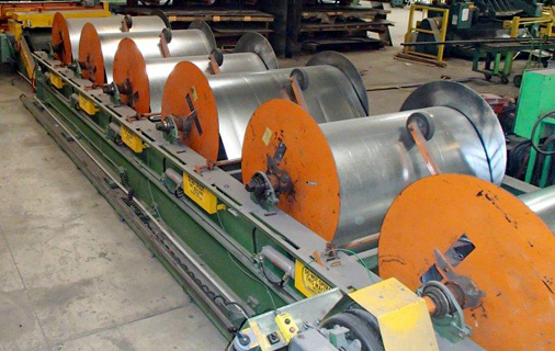 Coil line used to manufacture ductwork at Groeschel Company's facility